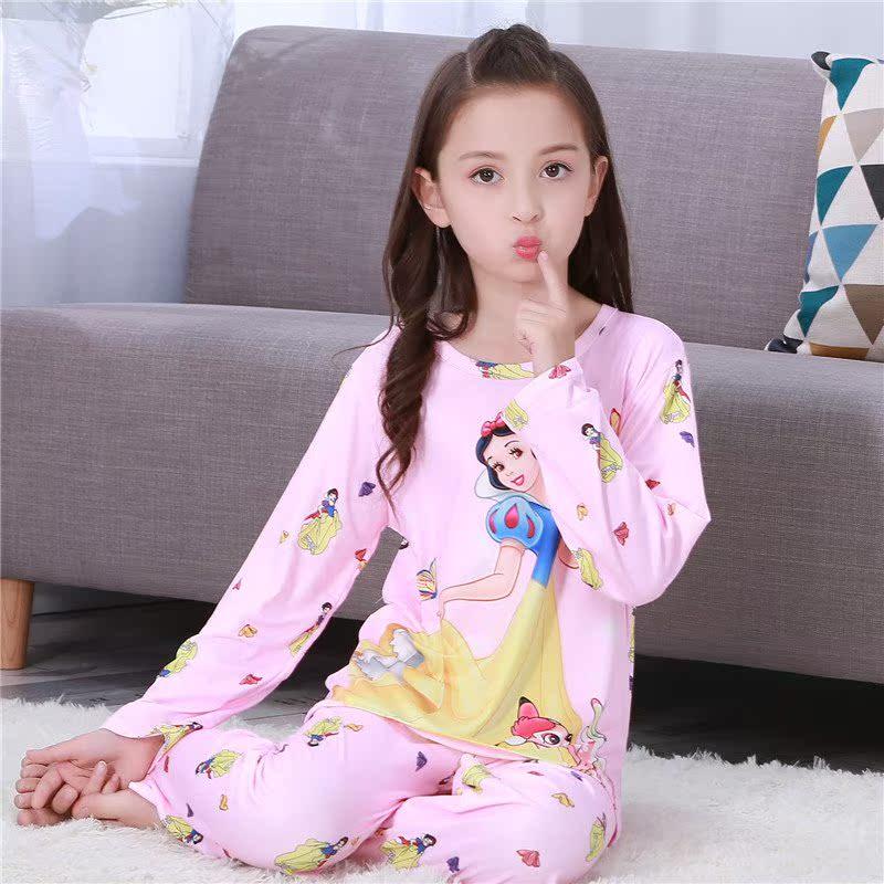 宝宝公主睡衣4秋天儿童5长袖6女孩7女童8睡衣9岁10小孩11秋季套装