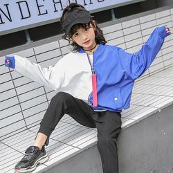 女童夹克春秋装2018新款童装中大童女孩洋气长袖棒球服外套韩版潮