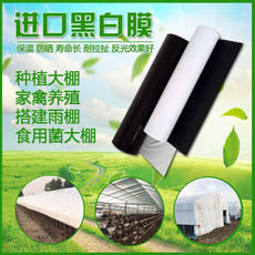 Imported anti-aging black and white film chicken house breeding greenhouse film reflective thickening greenhouse plastic cloth edible fungus insulation film