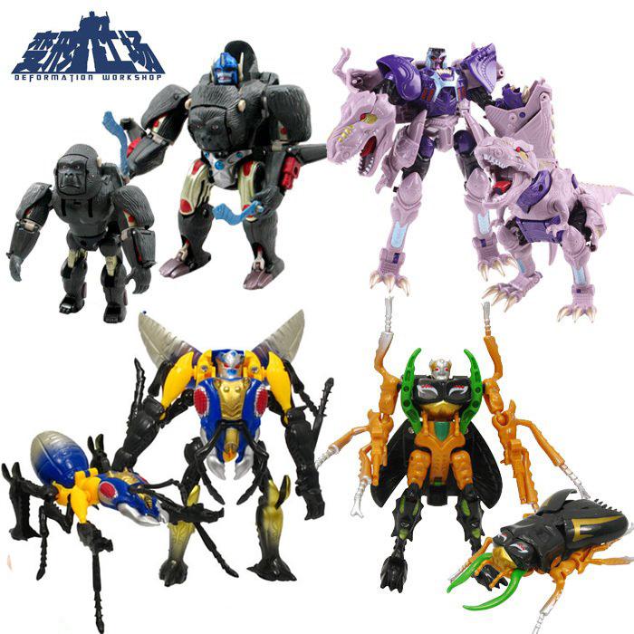 变形工场经典超能勇士猛兽侠变形玩具金刚加强D级猩猩队长恐龙