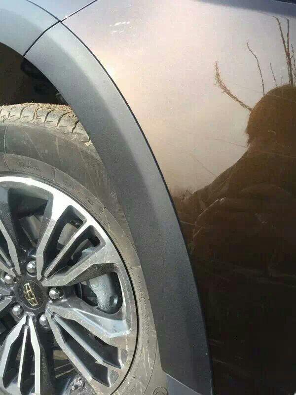 吉利远景X6轮眉 SUV加宽专车注塑 车轮防刮擦大包围改装迎宾灯