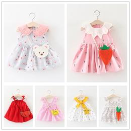 女童夏装裙子2018新款儿童娃娃领背心裙0-1-3岁女宝宝公主裙夏季2