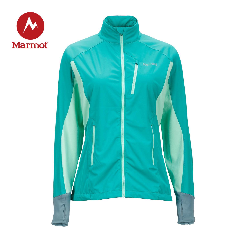 MARMOT/土拨鼠女款户外运动防风透气拼接M2立领软壳上衣Q56720