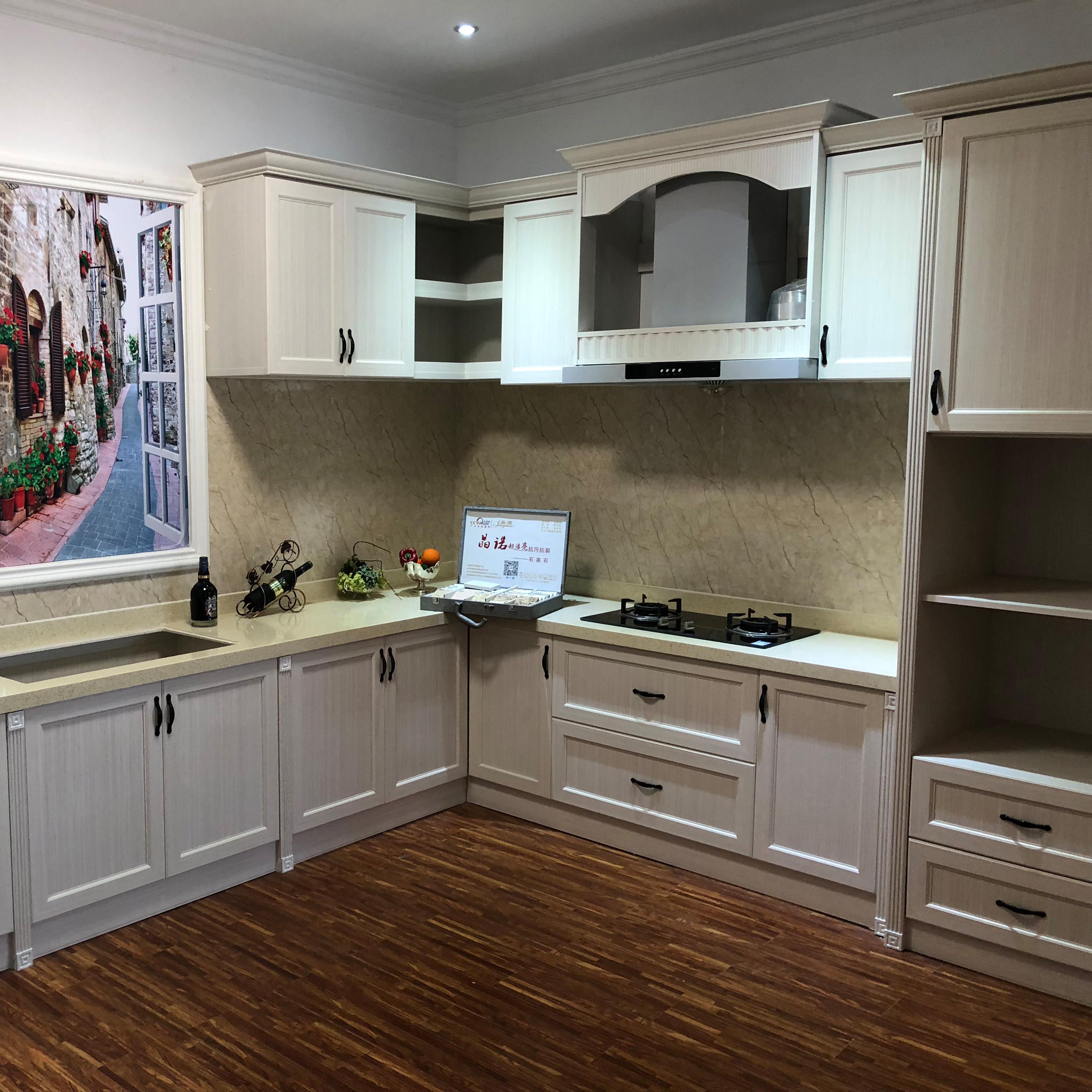 嘉兴上海L型开放式现代简约整体厨房橱柜铝合金柜门全铝家具设计