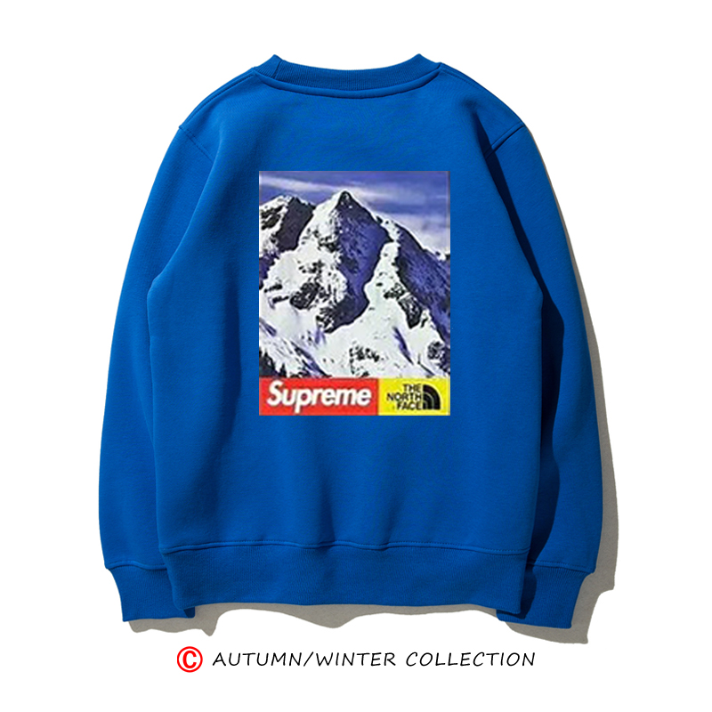 联名合作17FW Mountain Crewneck Sweatshirt 雪山 圆领卫衣长袖