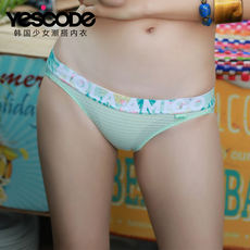 YESCODE imported original girl underwear printing comfortable sexy waist briefs female YSWPT607