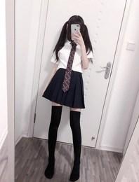 校服套装 学院风 高中学生中国正统制服水手服夏装班服学生jk衬