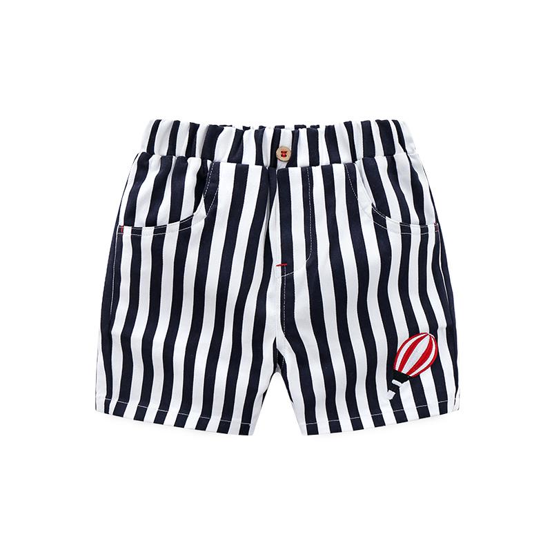 儿童裤子男宝宝条纹短裤夏季新品五分裤2018新款童装男童休闲裤夏