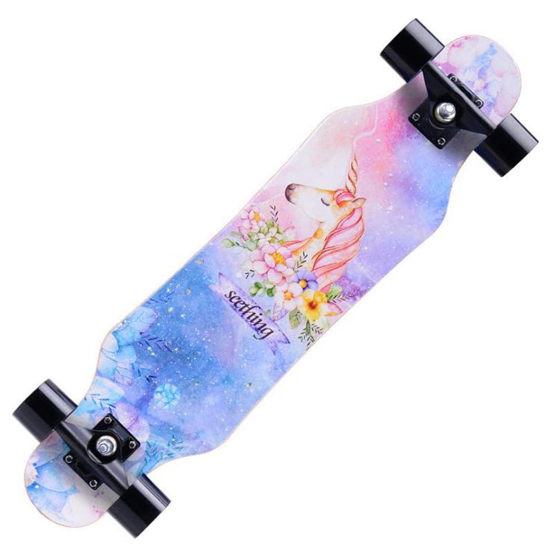 长板成人男生全能女生原宿风星空刷街少女街头校园初学者女孩滑板