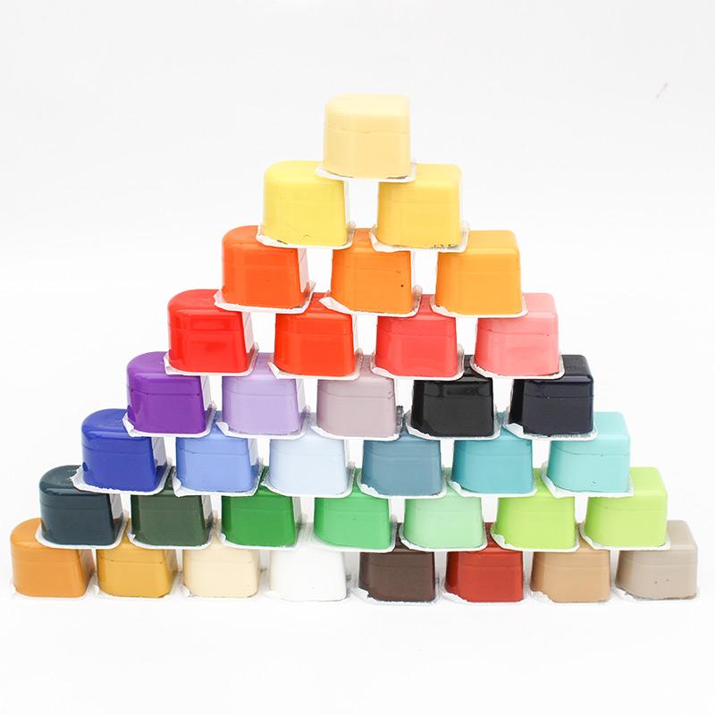 青竹果冻水粉颜料套装 30ML40色64色80色50ML48色青竹水粉颜料