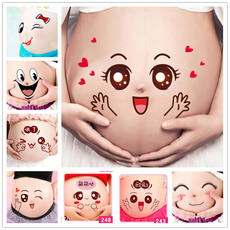 Pregnant women take belly stickers pregnant belly stickers pregnant belly stickers pregnant navel stickers photo studio photo photo props