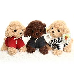 衣服泰迪狗毛绒玩具仿真狗狗公仔儿童女生生日礼物茶杯犬玩偶娃娃