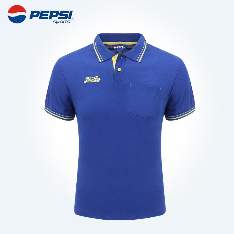 PEPSI 百事运动复古夏季男子运动休闲速干短袖polo衫 05908161