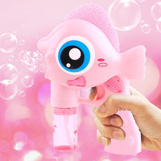 Net red camera bubble machine automatic blowing bubble toy children bubble gun leak-proof vibrating sound with the girl heart