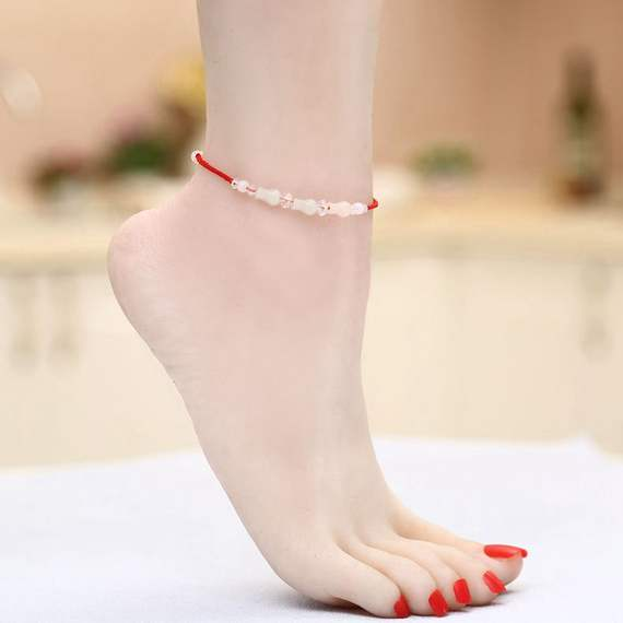 Girlfriends a pair of bracelets female Korean version of the simple fresh red hand rope Sen personality retro student red rope anklet