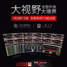 Zhi Lisheng professional stocks multi-screen computer 6 6 4 4 screen stocks and securities futures foreign exchange financial dedicated host