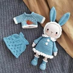 孕妈打发时间创意制作毛线刺绣钩针挂件玩具小动物成品