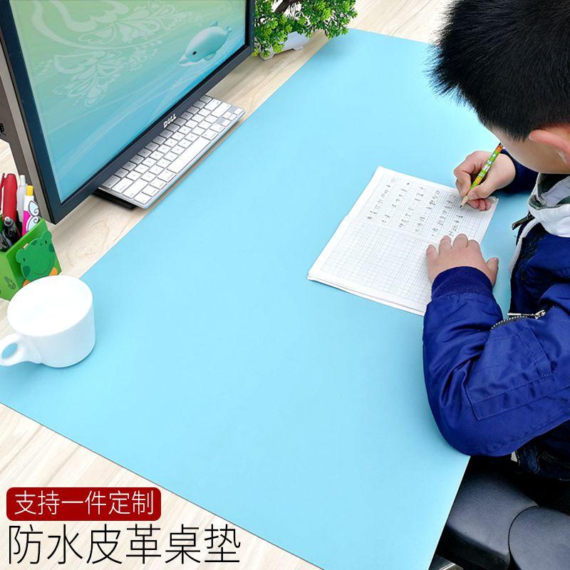 双面鼠标垫超大办公桌垫游戏键盘垫书桌垫皮垫子学习防水桌垫定制