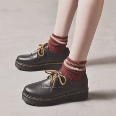Autumn and winter new British wind college Harajuku students Korean version of ulzzang wild soft sister small shoes women spring shoes