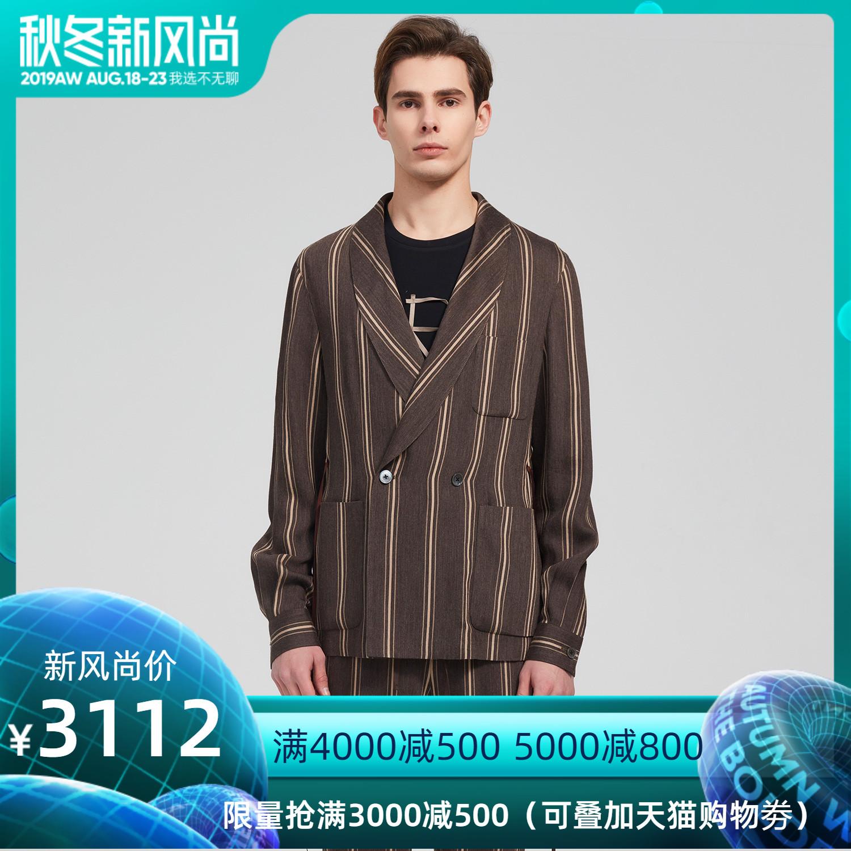 名堂Arc atelier秋冬新款男装条纹色商务休闲西服外套