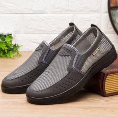 老人老北京中老年布鞋男网网面鞋男士凉鞋防滑软底爷爷爸爸夏季鞋