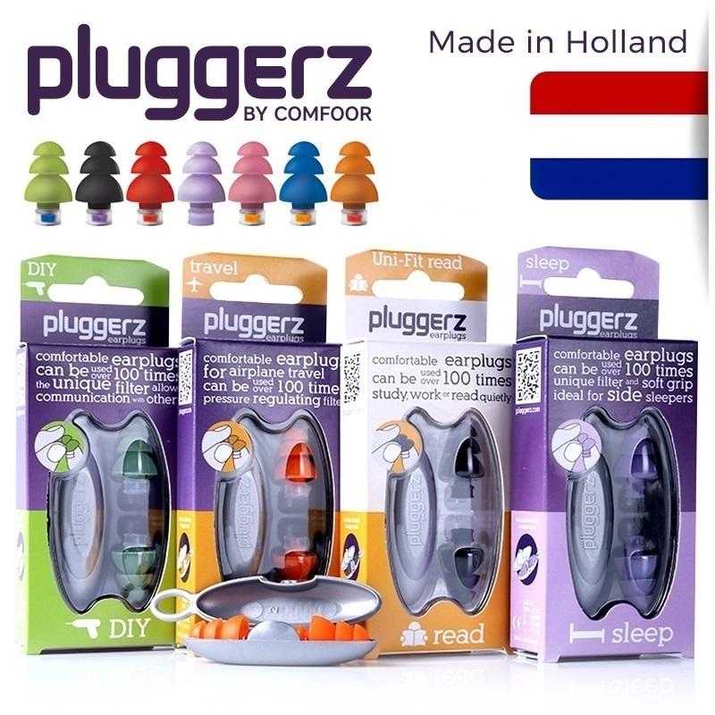 pluggerz荷兰专业隔音睡眠耳塞工作寝室打呼噜防噪音飞机降噪减压