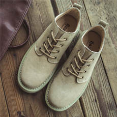 Martin boots men's summer low to help students short boots tide wild desert boots men's retro British wind men's tooling boots
