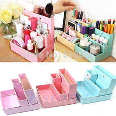 Paper Board Storage Box Desk Decor Stationery DIY Makeup Cos