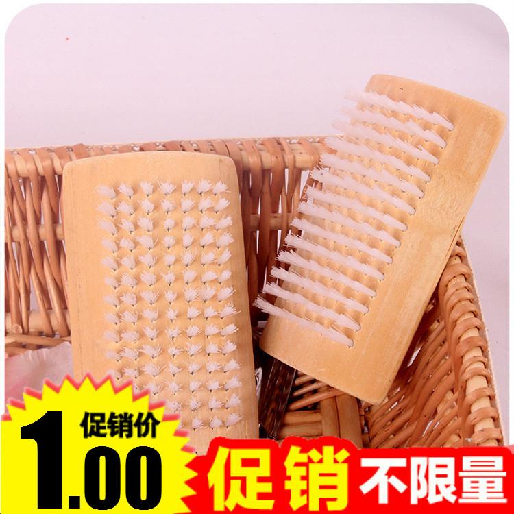 优质天然竹木鞋刷 长柄鞋刷 木质刷子多用刷洗衣刷清洁刷长毛鞋刷