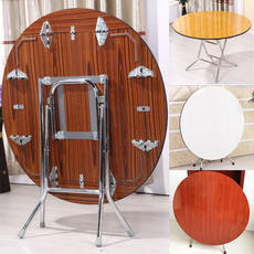 Round simple folding dining table 4 people square can eat table 8 people big round table small household folding table