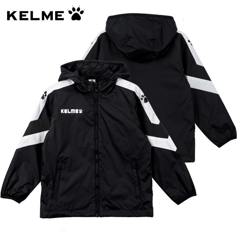 卡尔美运动风衣男秋款运动服男童外套梭织跑步儿童防风连帽风雨衣