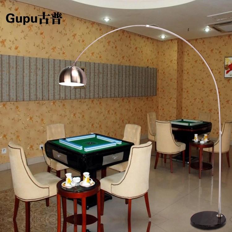 落地灯钓鱼灯LED护眼北欧创意简约客厅卧室麻将书房立式落地台灯