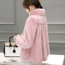 2018 autumn and winter mink coat female whole fur coat clearance sale anti-season plush water cashmere short section was thin