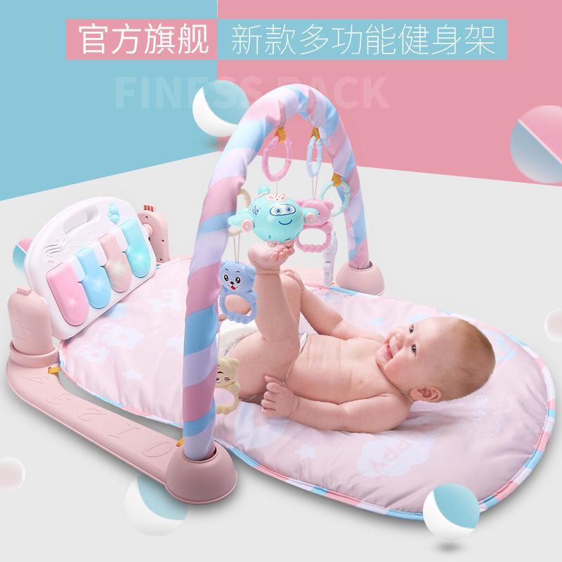 婴儿玩具脚踏钢琴健身架器音乐游戏毯新生儿宝宝0-1岁3-6-12个月
