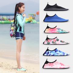 沙滩袜潜水鞋女浮潜鞋男跑步机游泳赤足儿童海边涉水漂流软鞋成人