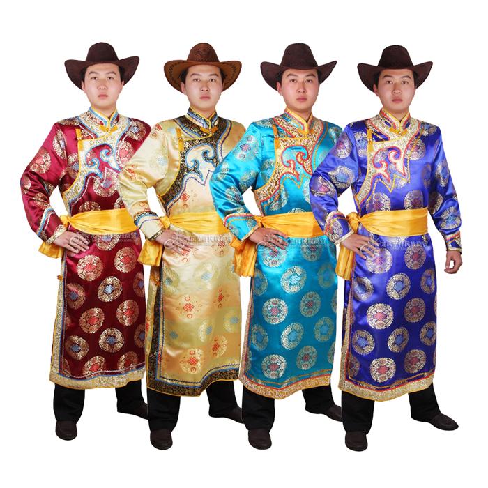 男士蒙古袍蒙古服 蒙古族舞蹈演出服装 蒙族婚礼服少数民族服装男