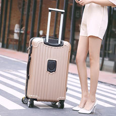 Fashion trolley case female student suitcase male 24 inch suitcase luggage 28 inch password box with cup holder buckle