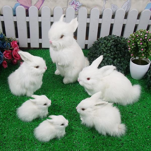 长毛绒生日公仔绒毛小孩短毛绒小兔毛绒玩具可爱兔公模型小帝王声控八爪鱼白兔蟹图片