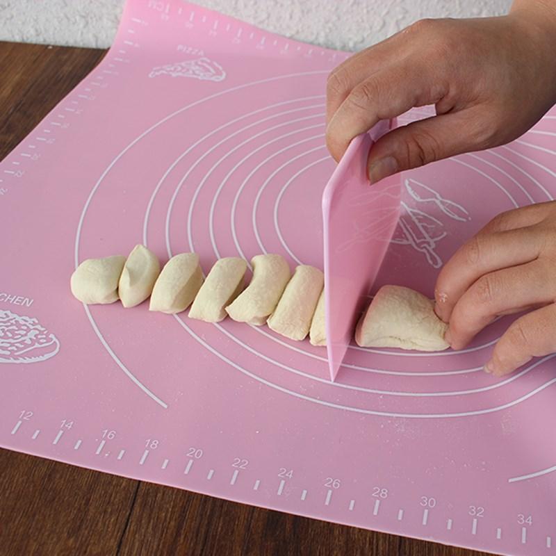 烘培揉面垫揉面垫切水果案板馒头面点半透明色软胶包邮加长面板粉