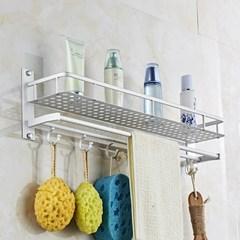 太空铝铝合金浴室置物架浴巾架卫生间收纳架免打孔卫浴毛巾架壁挂