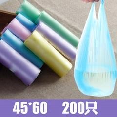 背带式垃圾袋大号手提式塑料袋家用透明马甲袋加厚家用中号45/55