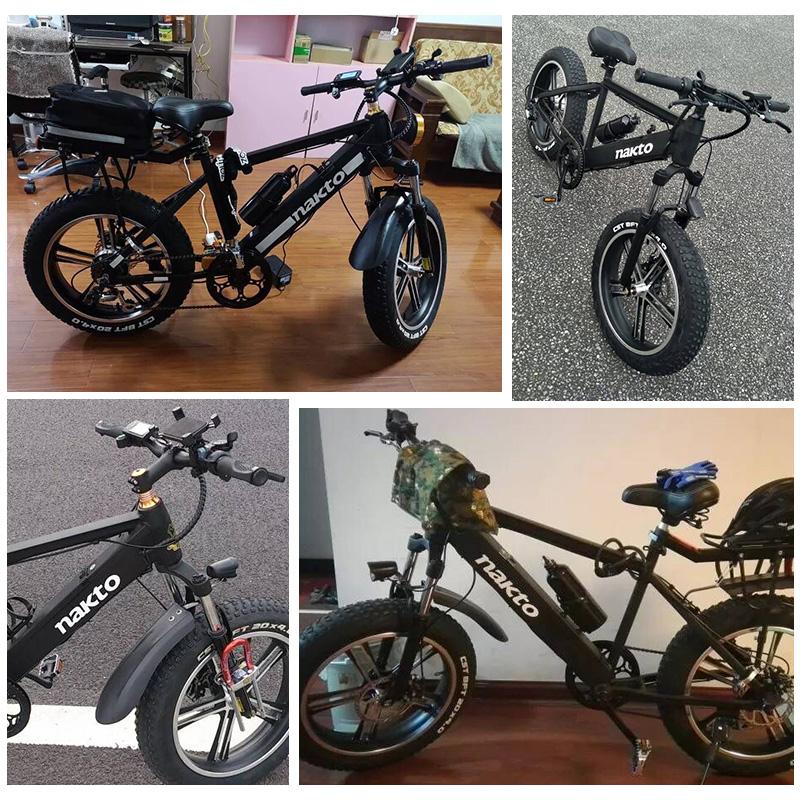 耐佳特电动自行车助力电瓶车20寸48V4.0宽胎厚胎雪地车山地越野车