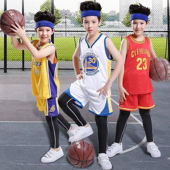 NBA Curry Bryant children's jerseys Primary school star version basketball uniform suit boys and girls kids vest