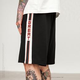 夏季短裤男潮牌 街头个性欧美风嘻哈运动五分裤宽松ins超火的裤子