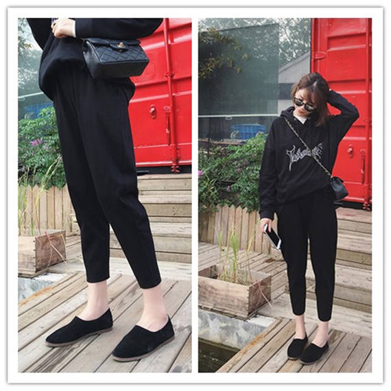 Summer new large size harem pants female spring and summer loose fat mm nine pants casual feet pants was thin