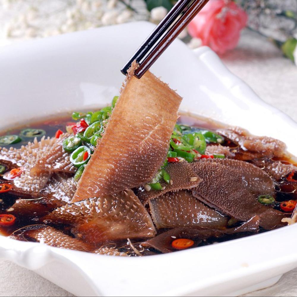 毛肚新鲜牛百叶重庆火锅食材批水发黑毛肚片涮火锅配菜菜品150g