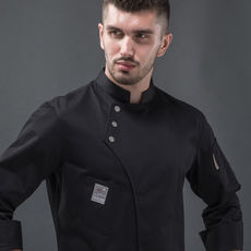 Chef Workwear Men and women Slim Long-sleeved Autumn and winter catering kitchen Western food West Point baking cake shop chef clothes