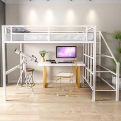 铁艺双人床简约现代单人床单身公寓高低床宿舍多功能上下铺高架床