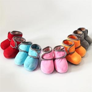 Adroit Girl婴儿套加绒加厚鞋棉鞋婴儿步前鞋袜鞋婴儿棉鞋不掉