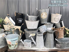 Big collection release - American country style home decorations antique old wrought iron flower pot gardening flower